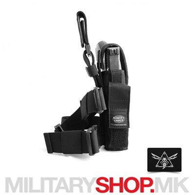 Црна торбица за носење околу нога HG