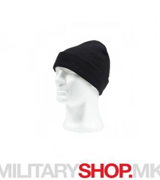 Плетена капа за зима црна боја Militaria