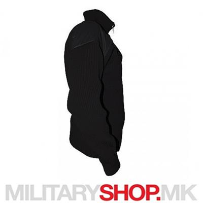 Црн зимски џемпер Military