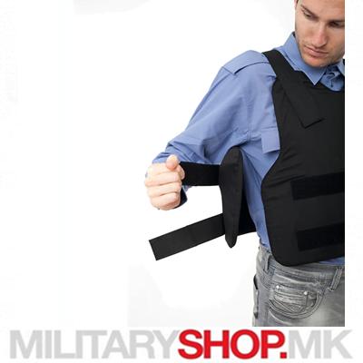 Заштитен црн панцир панцир за носење под облеката