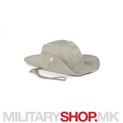 Којот(окер) SAFARI шешир со врвца од памук