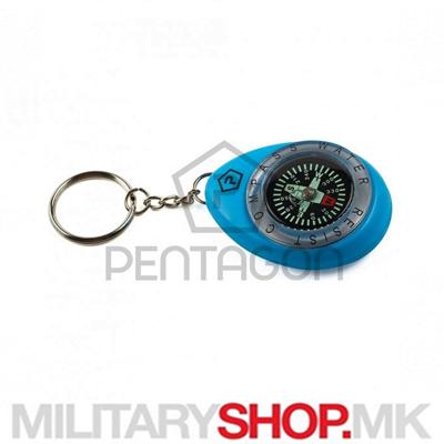 Привезок за клучеви со компас Pentagon во сина боја