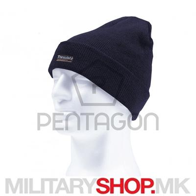 Темно сина капа со Thinsulate постава