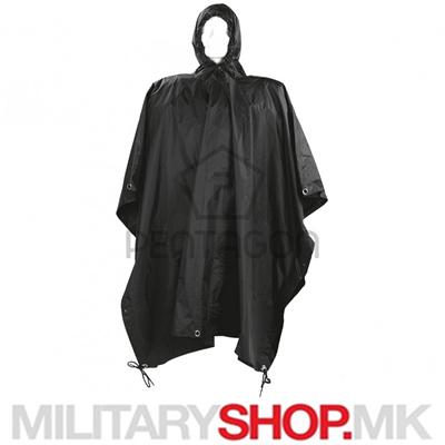 Pentagon пончо за дожд црна боја