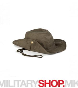 Зелен SAFARI шешир со врвца од памук