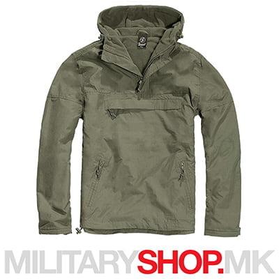 Brandit windstopper windbreaker зелена јакна