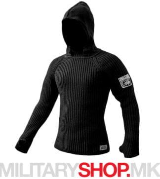 STALKER џемпер со качулка црна боја